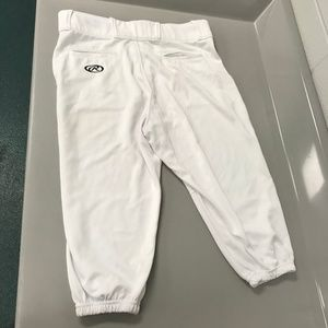 Rawlings White Baseball Pants Sports Mens Large L